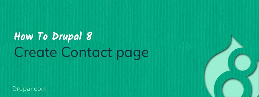contact page Drupal 8